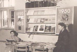 Wypożyczalnia nr 10 przy ul. Ludwiki 1, 1950 r.