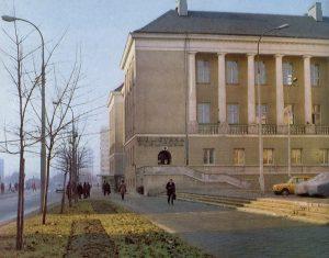 Budynek biblioteki przy al. Solidarności 90 z 1970 roku