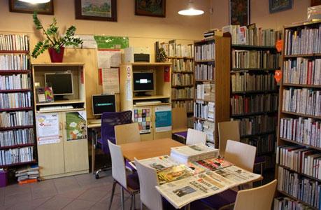 Wnętrze biblioteki na Ciołka