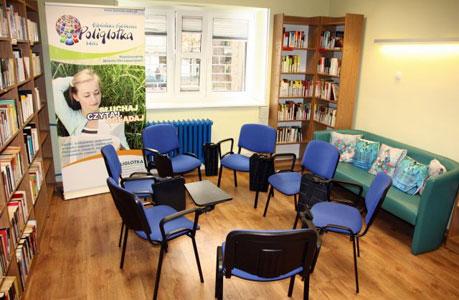 Wnętrza biblioteki Poliglotka