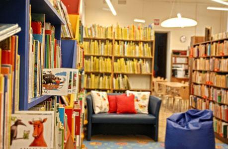 Wnętrza biblioteki dla dzieci na Solidarności