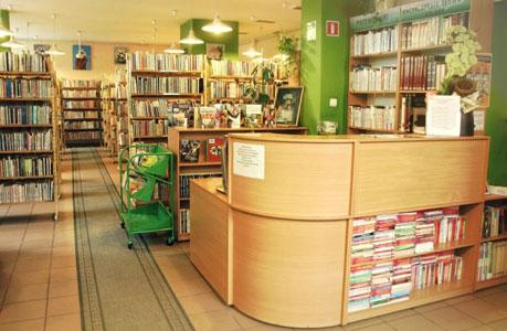Wnętrza biblioteki na Wolskiej